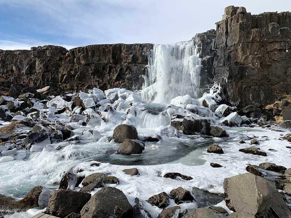 Cascada de Öxarárfoss