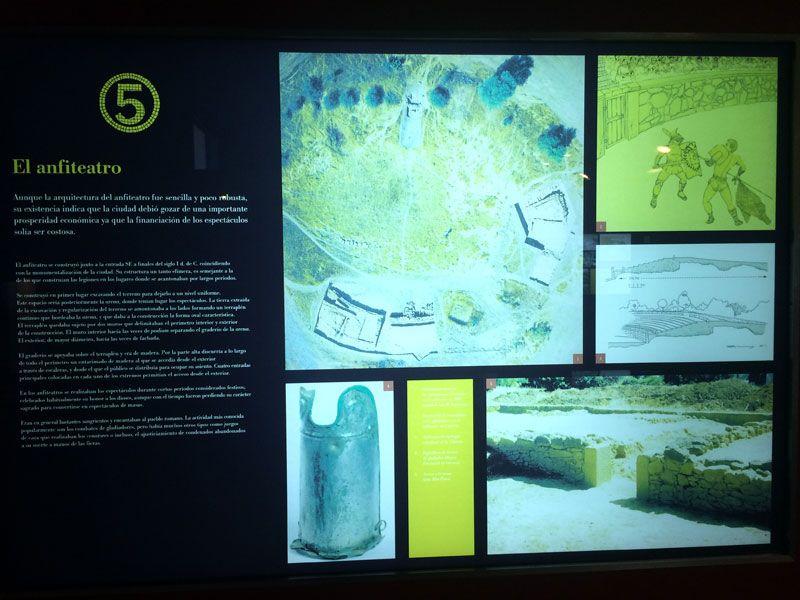 Ciudad romana Cáparra - Cáceres - Panel informativo