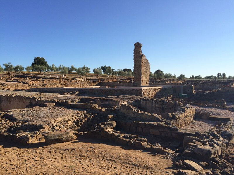 Ciudad romana Cáparra - Cáceres - Termas Romanas