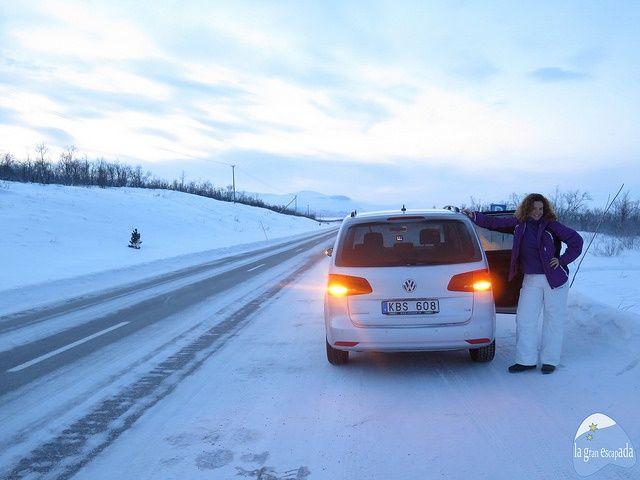 Coche alquilado en Kiruna con Europcar, para ir Abisko
