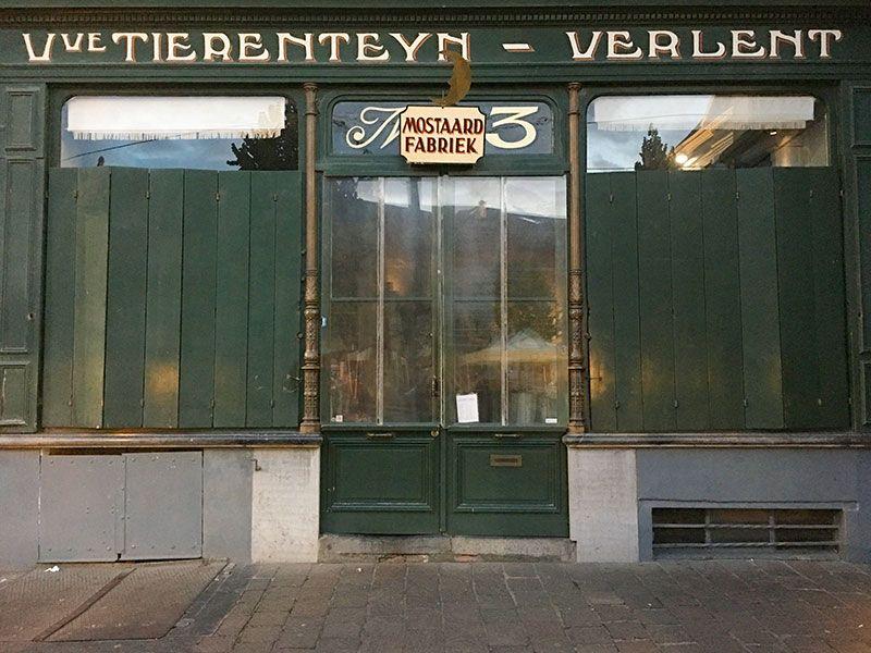 Comer en Flandes - Gante - Tienda de mostaza artesanal Tierenteyn Verlent
