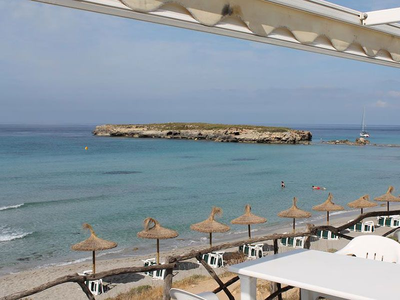 Playa de Binigaus - Menorca - Vistas desde el restaurante Es Bruc