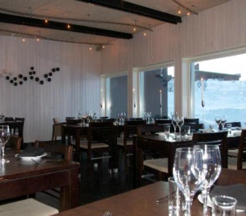 Salón del restaurante Camp Ripan de Kiruna