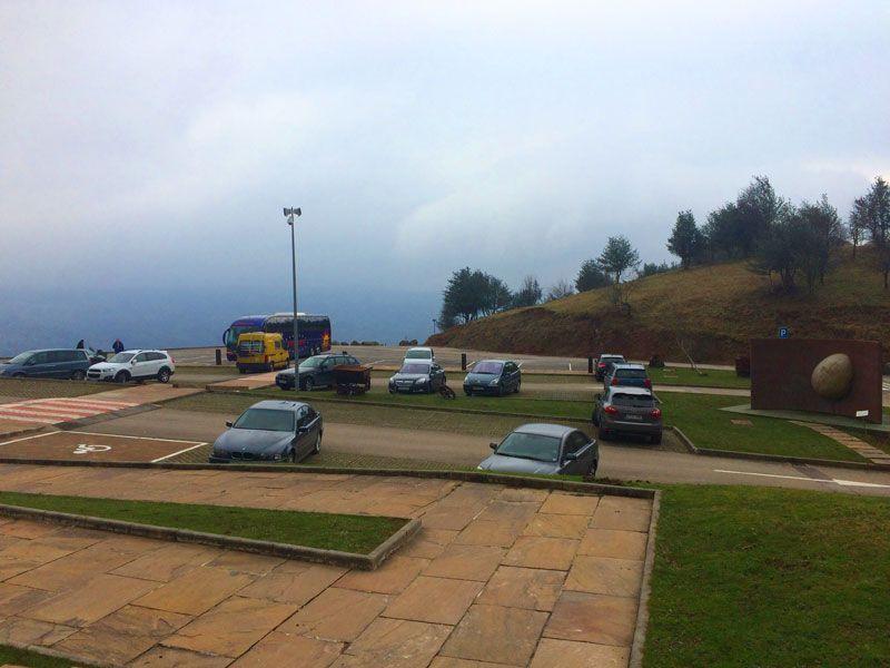Parking gratuito de La Cueva El Soplao, Cantabria