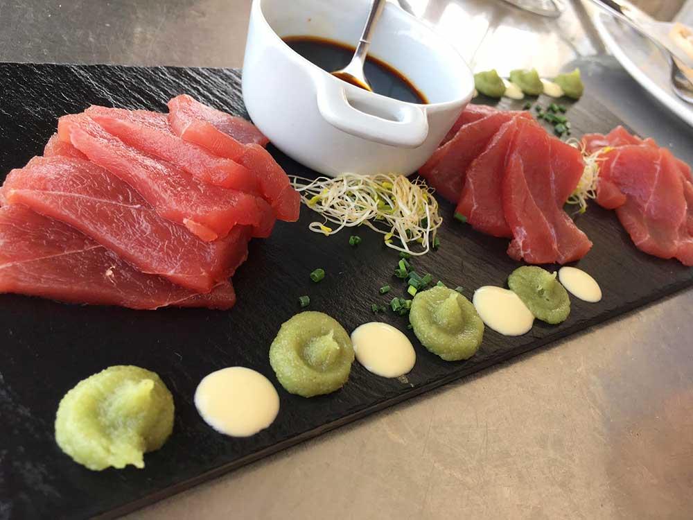 Dónde comer en Altea - Shashimi de atún en Ca Jaume