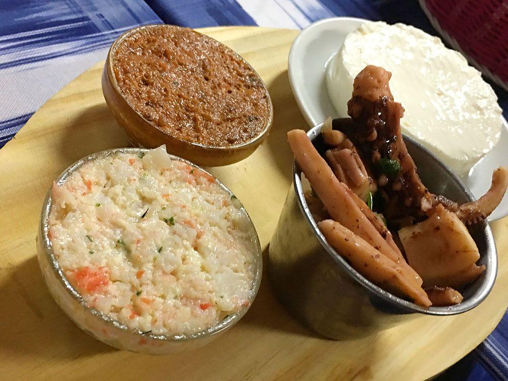Dónde comer en São Miguel - Azores - Lagoa - Restaurante Borda d'Agua - Entrantes