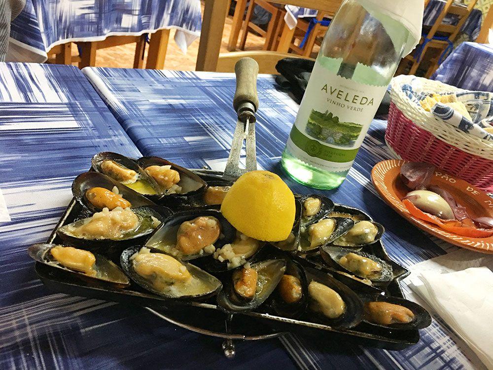 Dónde comer en São Miguel - Azores - Lagoa - Restaurante Borda d'Agua - Mejillones