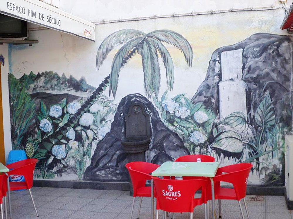 Dónde comer en São Miguel - Azores - Maia - Fim de Século - Patio exterior