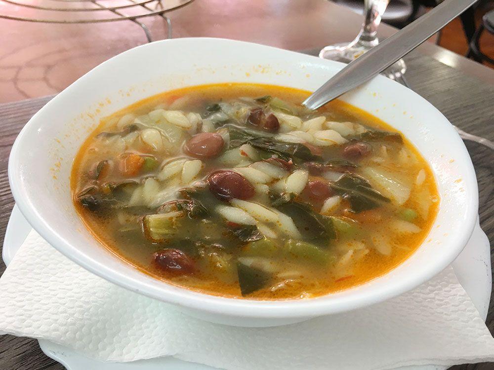 Dónde comer en São Miguel - Azores - Mosteiros - Restaurante O Americo de Barbosa - Sopa