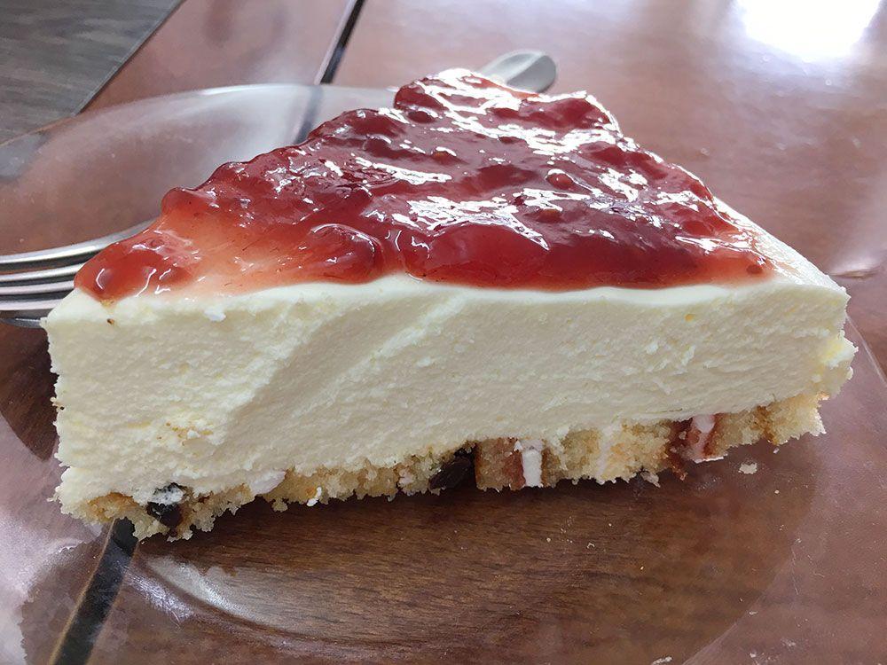 Dónde comer en São Miguel - Azores - Mosteiros - Restaurante O Americo de Barbosa - Tarta de queso