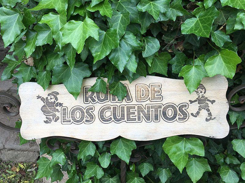 El Bosque Encantado - Madrid - Cartel de la Ruta de los Cuentos