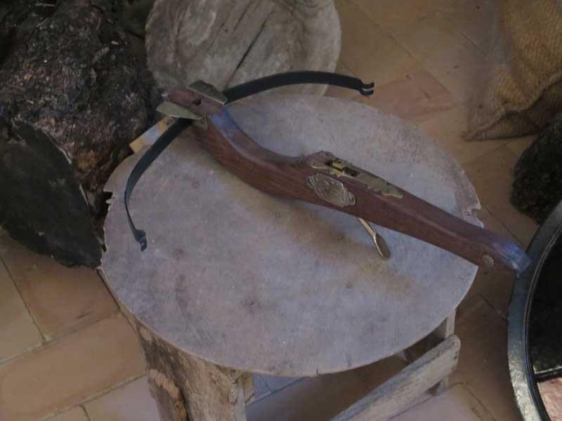 Ballesta utilizada para lanzar saetas