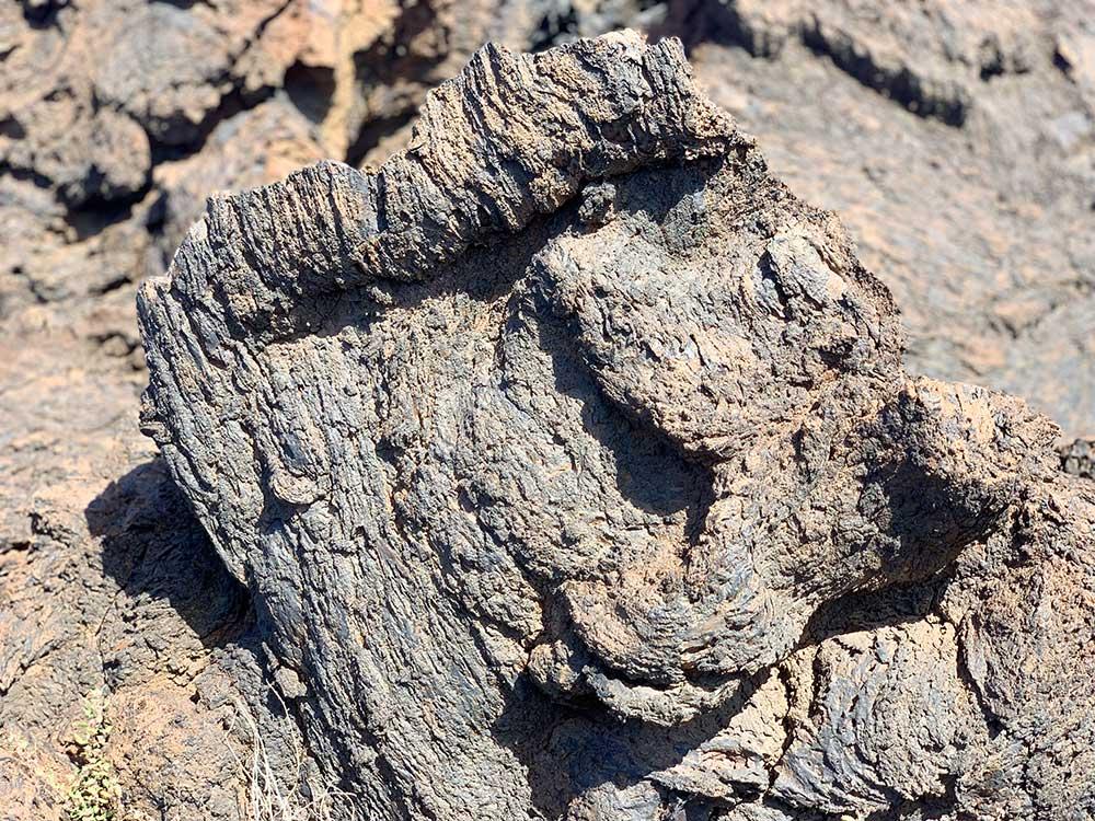 Faro de Orchilla y alrededores - Detalle de colada volcánica