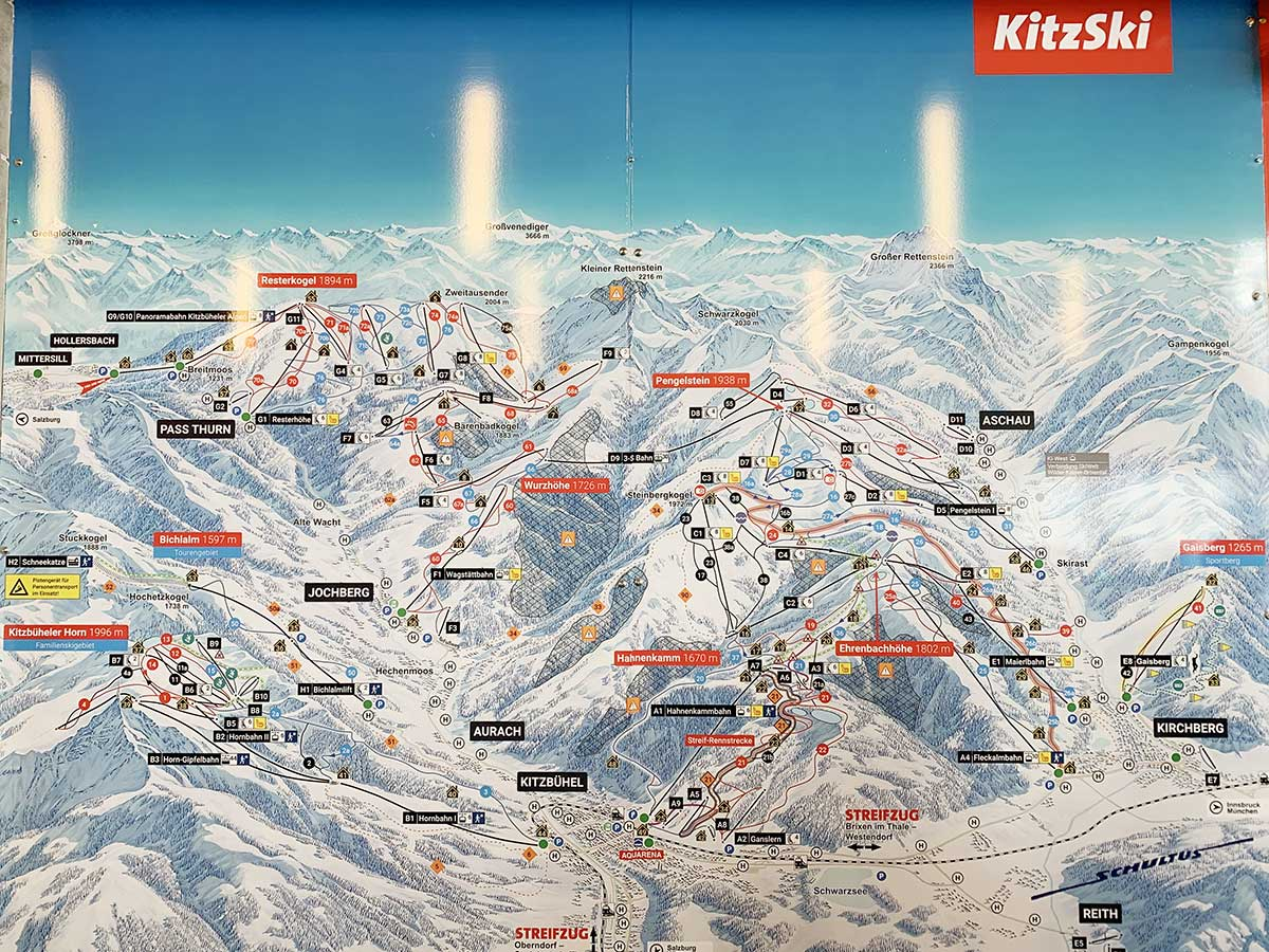 Esquiar en Kitzbühel - Mapa de pistas