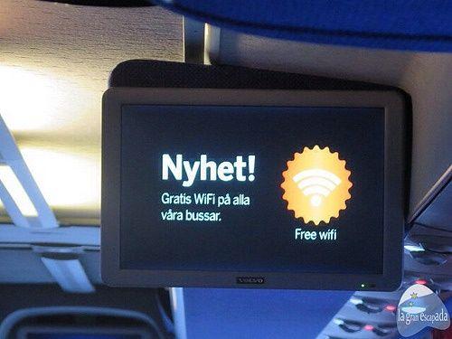 Wifi gratis en el bus