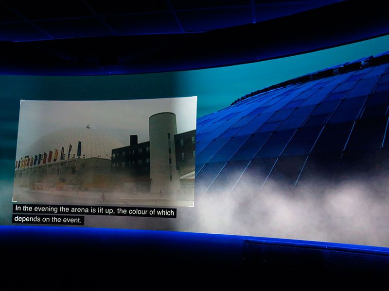 Mejores vistas de Estocolmo, vídeo sobre la construcción del Globen