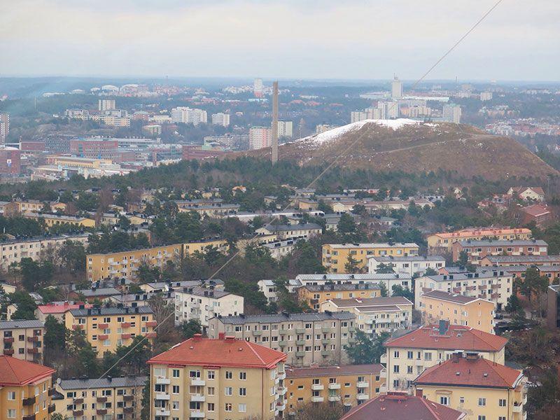 Estocolmo desde las laturas, panorámica de Estocolmo desde el Skyview