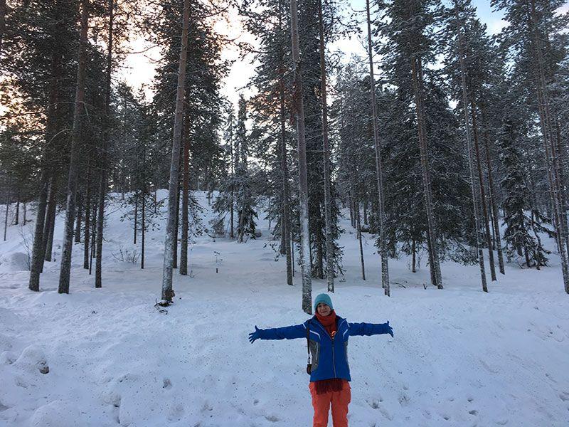 Excursión de raquetas de nieve en Rovaniemi - Bosques