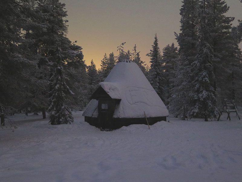 Excursión de raquetas de nieve en Rovaniemi - Cabaña Lapplish