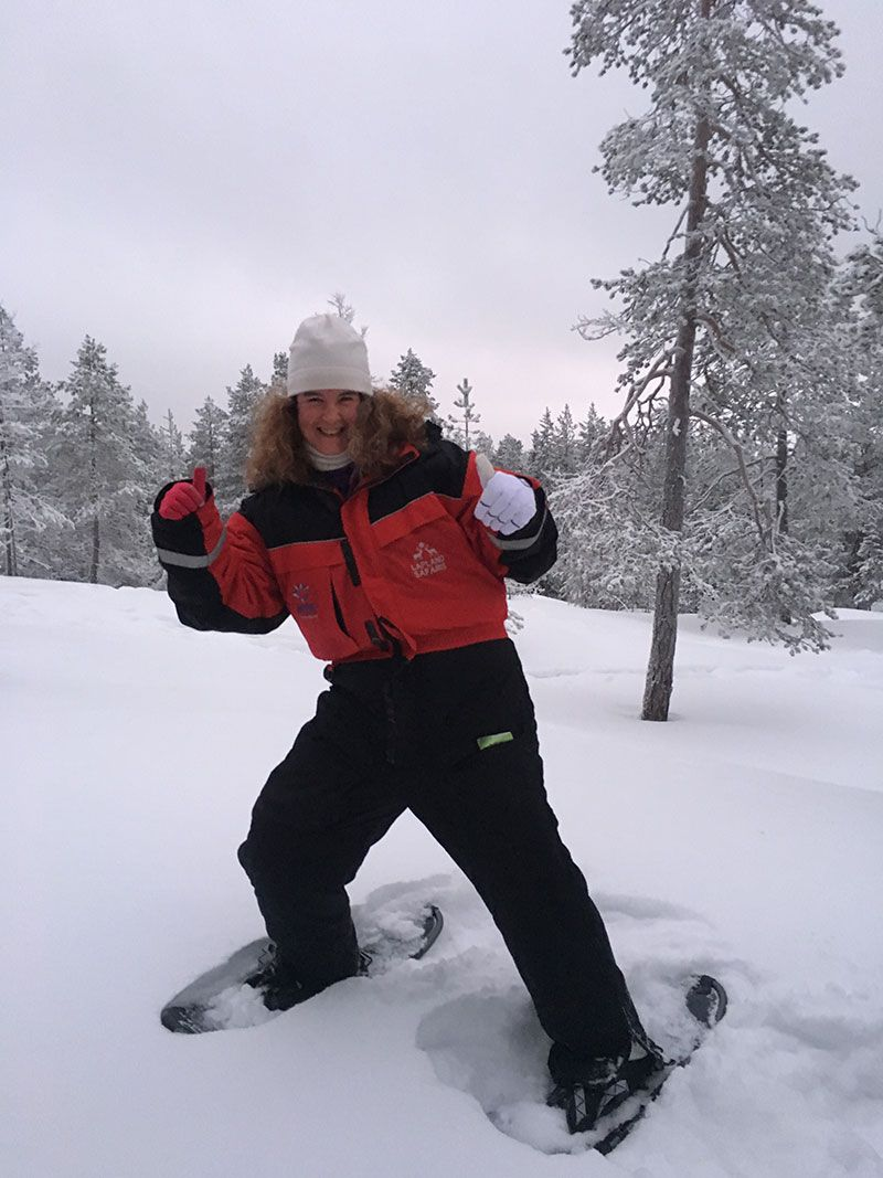 Excursión de raquetas de nieve en Rovaniemi - Eli