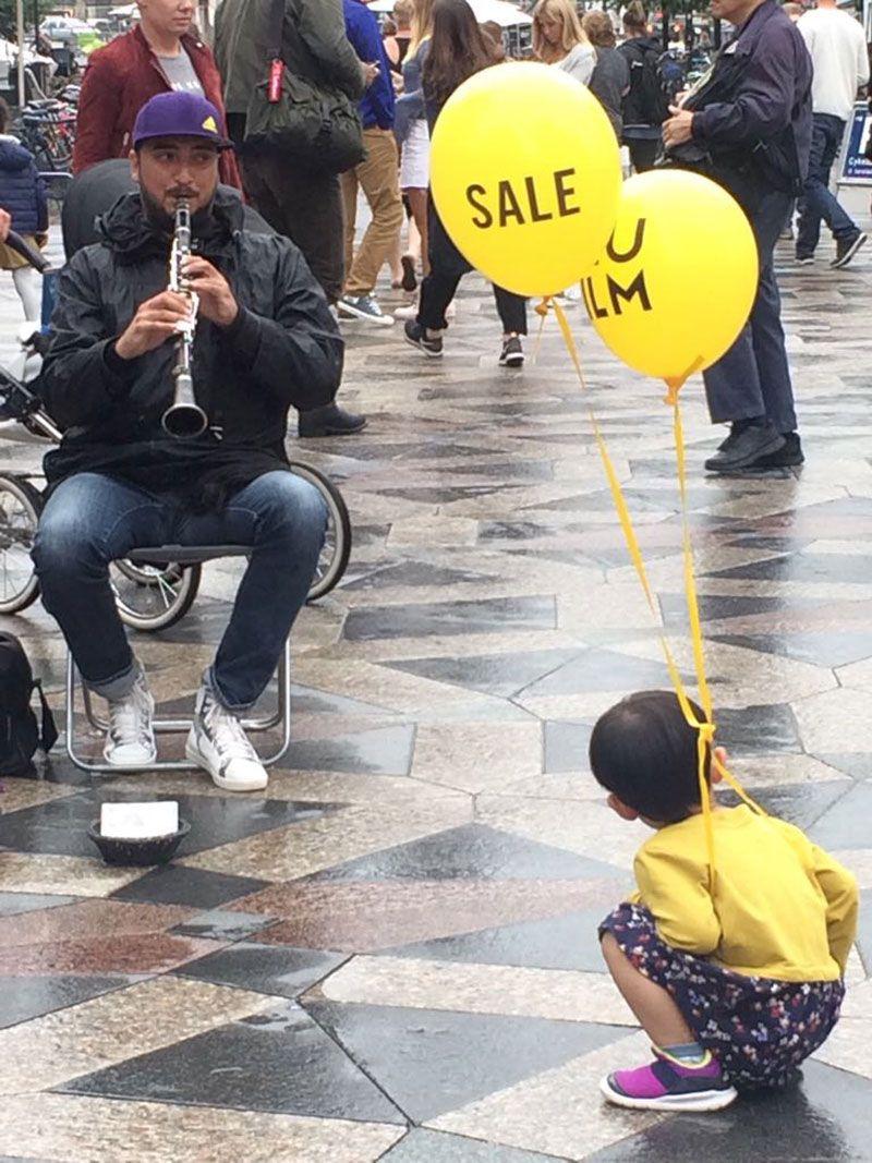 Experiencias y sensaciones en Copenhague - Músico en Strøget