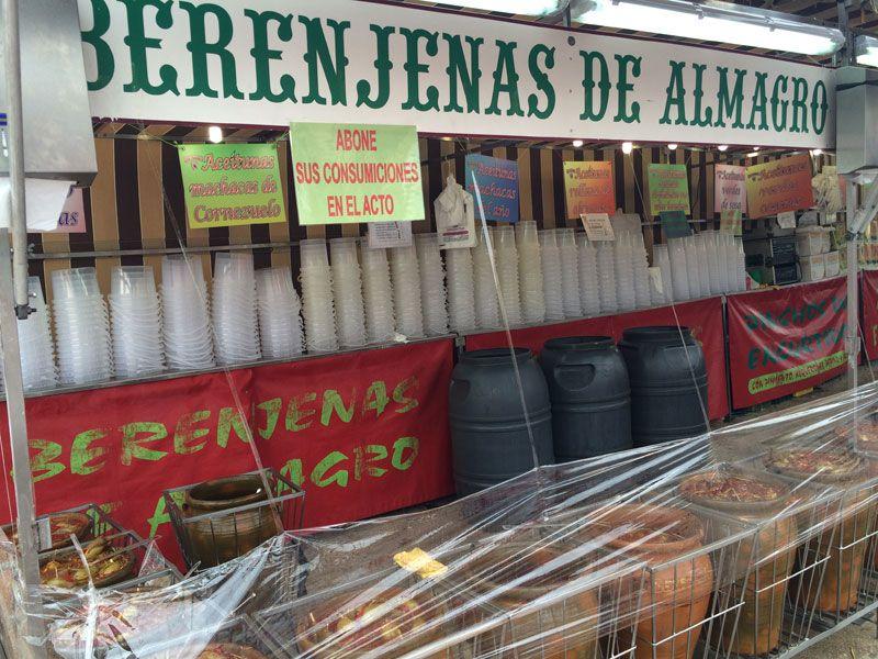 Feria de Albacete - Puesto de berenjenas de Almagro