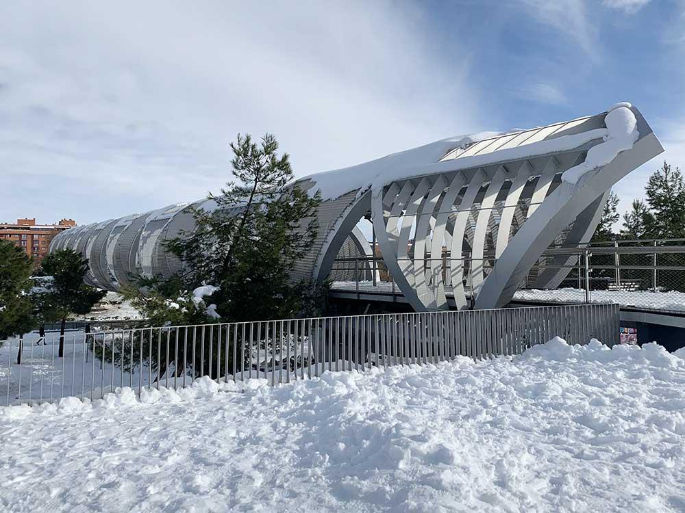 Túnel de Arganzuela nevado