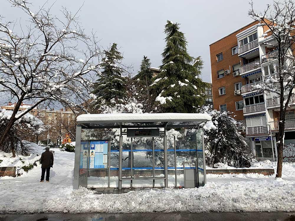 Los autobuses dejaron de dar servicio en Madrid