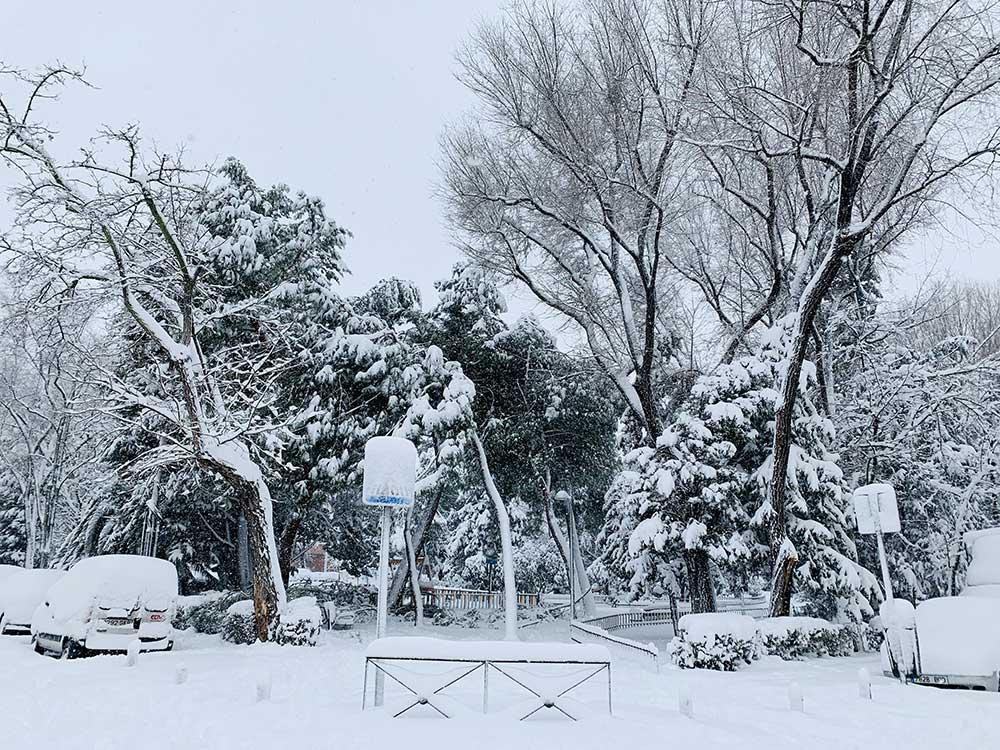 Nieve en Madrid tras el paso de Filomena