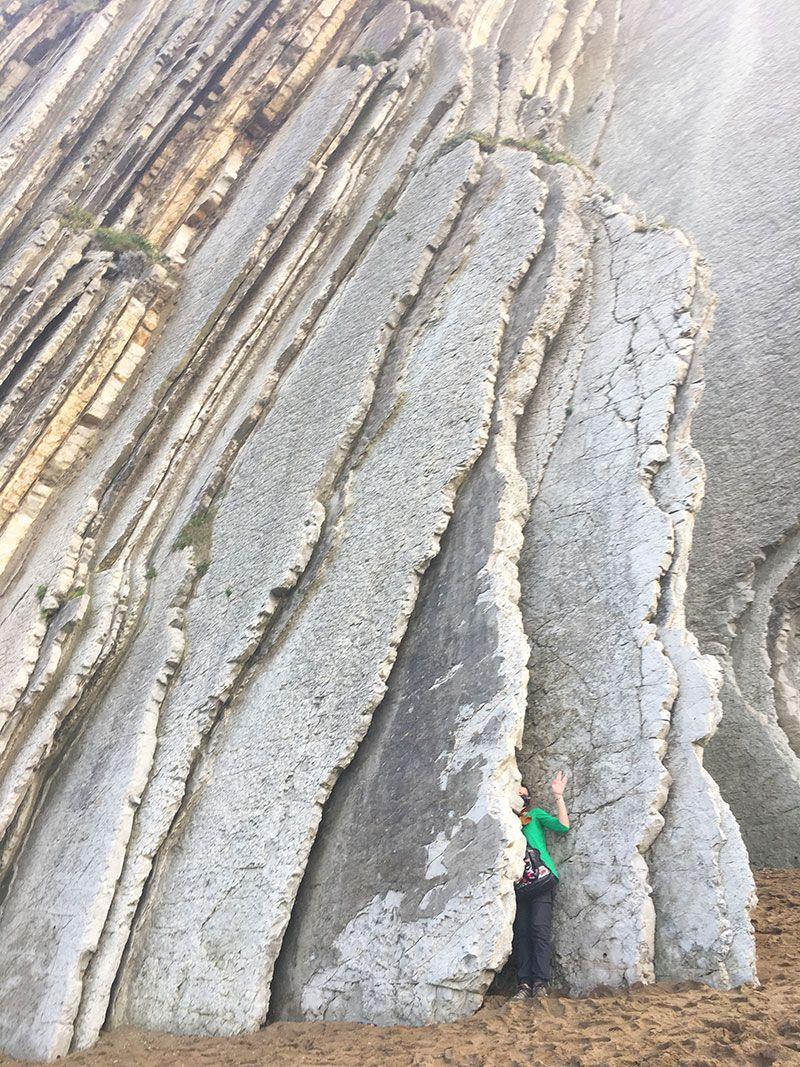 Flysch - Geoparque de la Costa Vasca - Pliegues