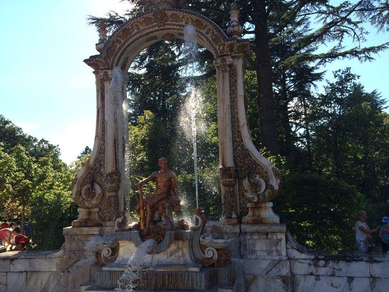 Fuente de Hércules en el grupo monumental de las Ocho Calles - Fuentes de La Granja