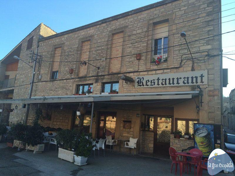 Fachada del restaurante Sant Jordi de Guimerà