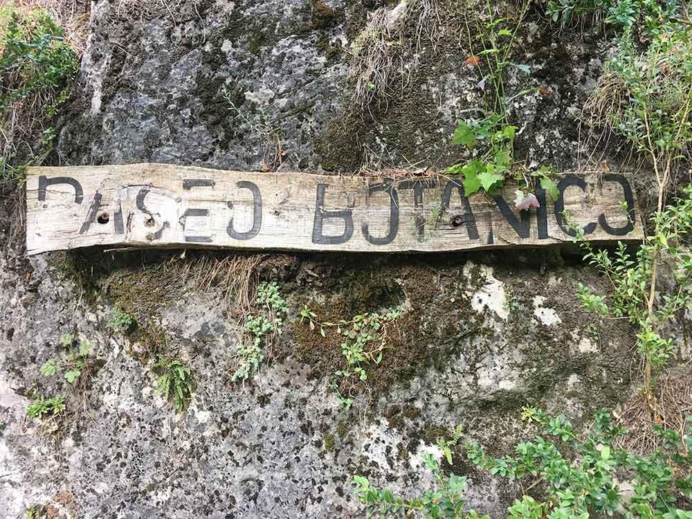 Hoz de Beteta y sumidero de Mata Asnos - Cartel Paseo Botánico