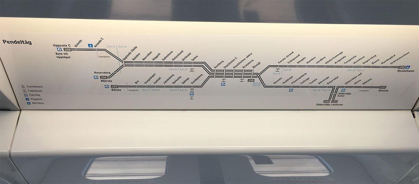 Cómo ir del aeropuerto de Arlanda al centro de Estocolmo - Transporte público - Paradas de tren