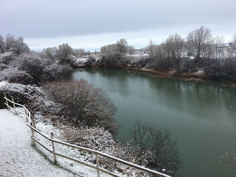 Kinedomus - Hotel SPA Aranda del Duero - Burgos - Río Duero nevado