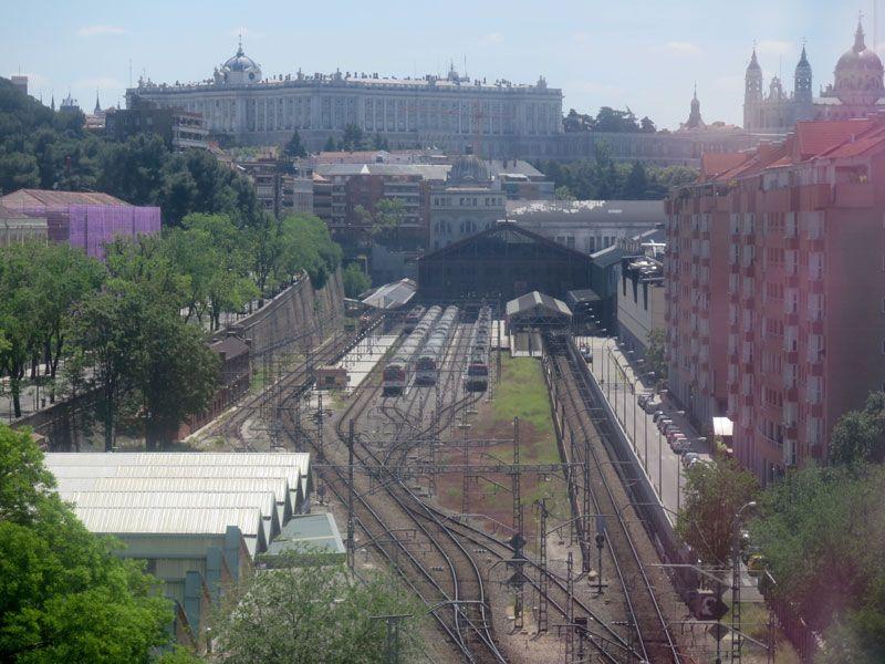 Estación de Príncipe Pío desde las alturas