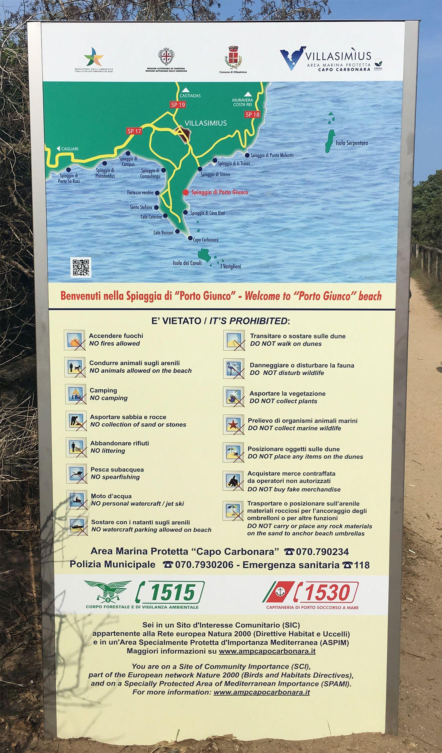 Las mejores playas de Cerdeña - Porto Giunco - Panel