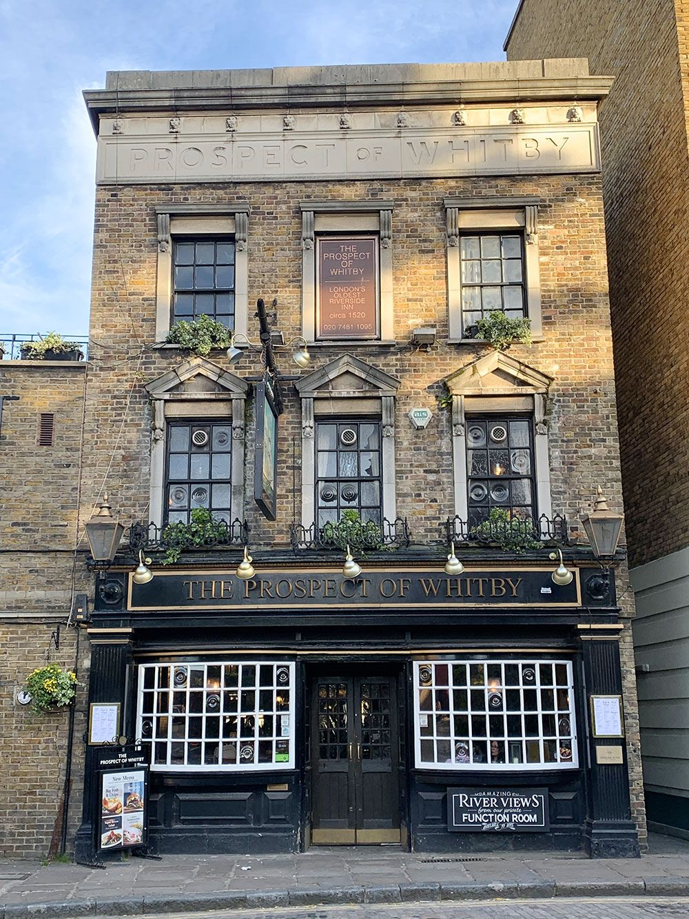 Los pubs más antiguos de Londres - Fachada del pub The Prospect of Whitby