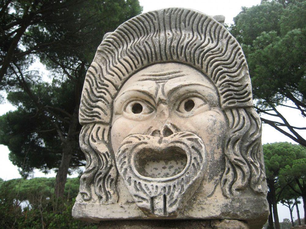 Detalla de las ruinas de Ostia Antica