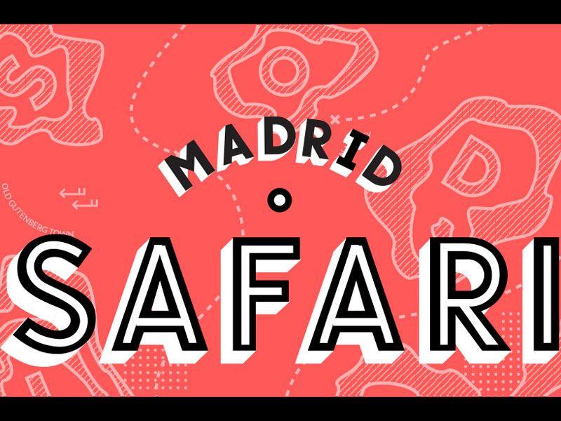 Safari tipográfico en Madrid organizado por Chulotype.