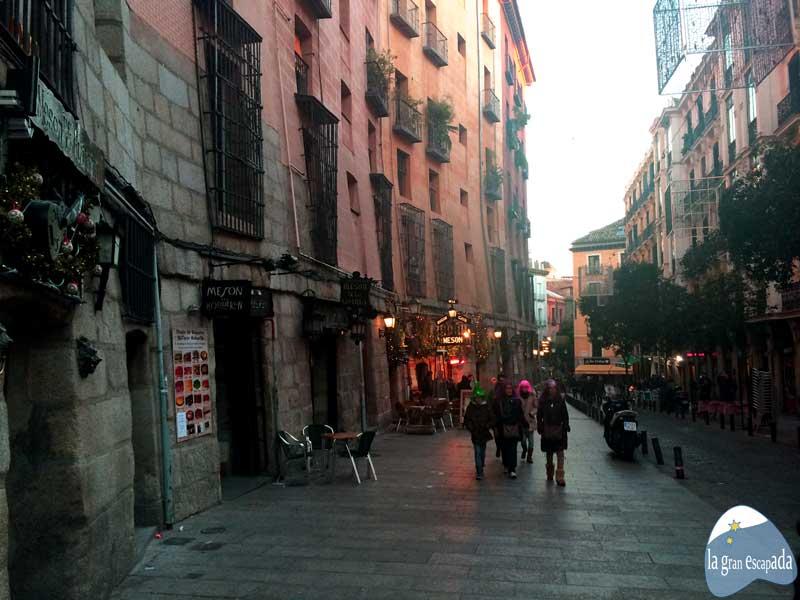 Madrid en Navidad. Calle Mesones