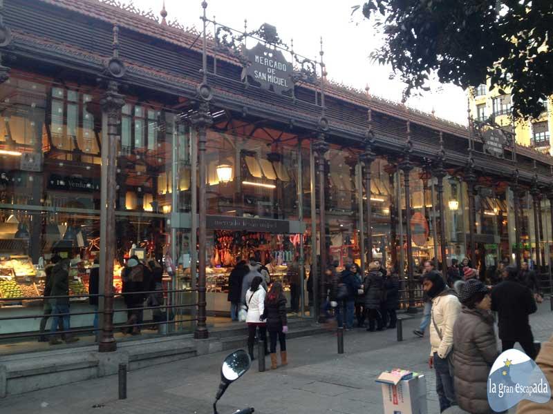 Madrid en Navidad. Mercado de San Miguel