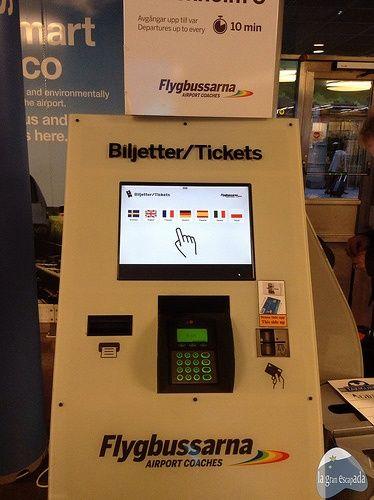 Comprar billete de bus Flygbussarna Arlanda - Ir del aeropuerto de Arlanda a Estocolmo