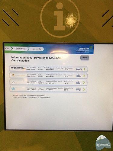 Información autobús Flygbussarna - Ir del aeropuerto de Arlanda a Estocolmo