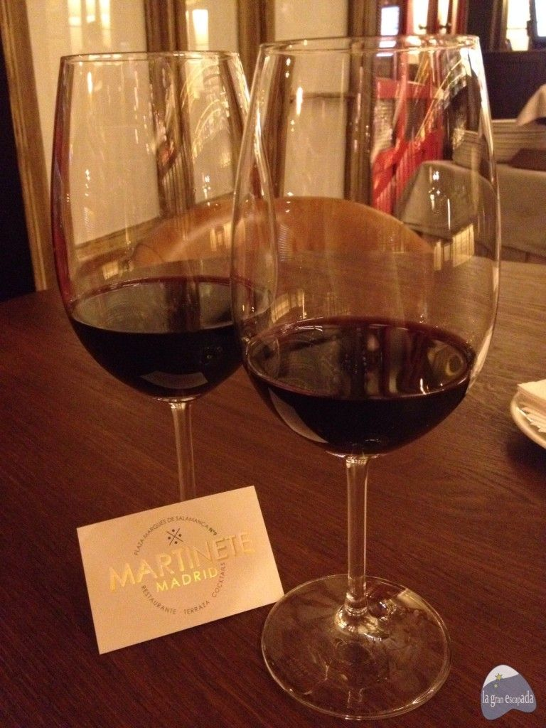 Un par de Riberas del Duero en el restaurante Martinete