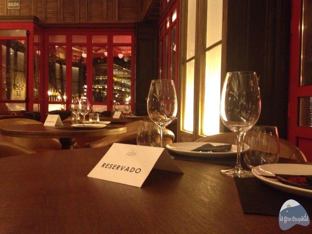 Mesas reservadas en el restaurante Martinete