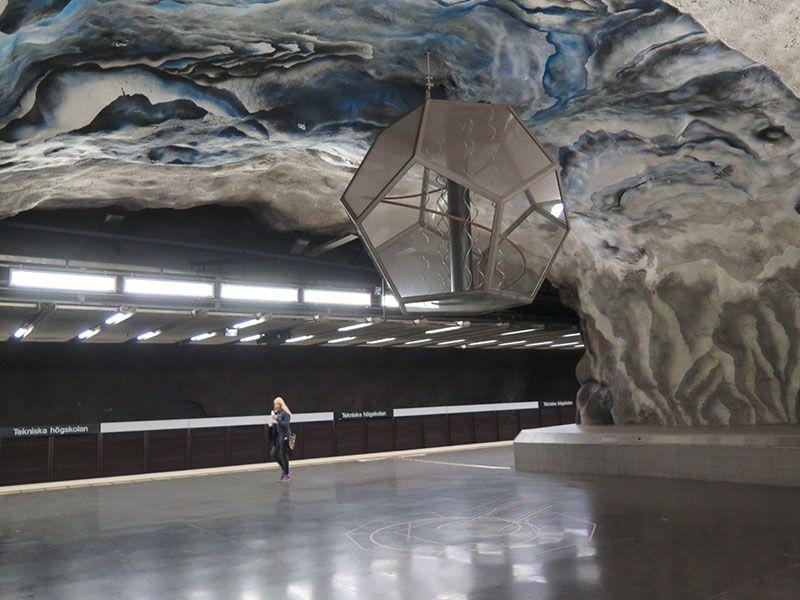 Las estaciones más bonitas del metro de Estocolmo - Tekniska högskolan
