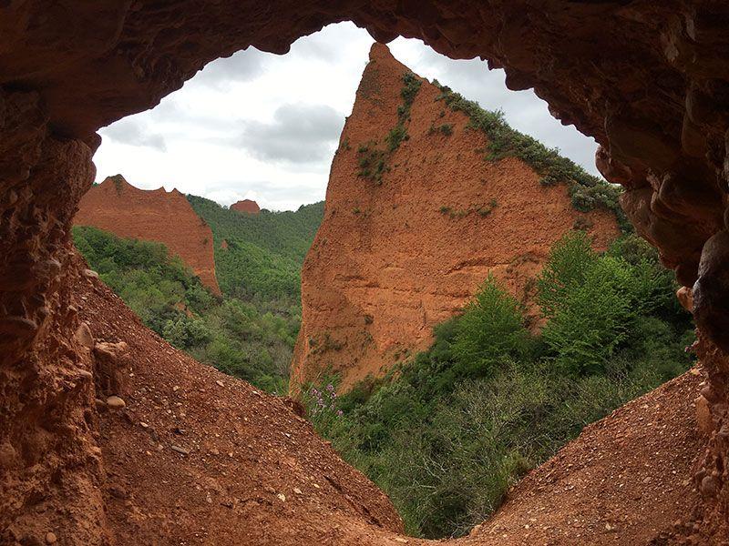 Mina de oro de Las Médulas - Vistas desde el interior de La Encantada