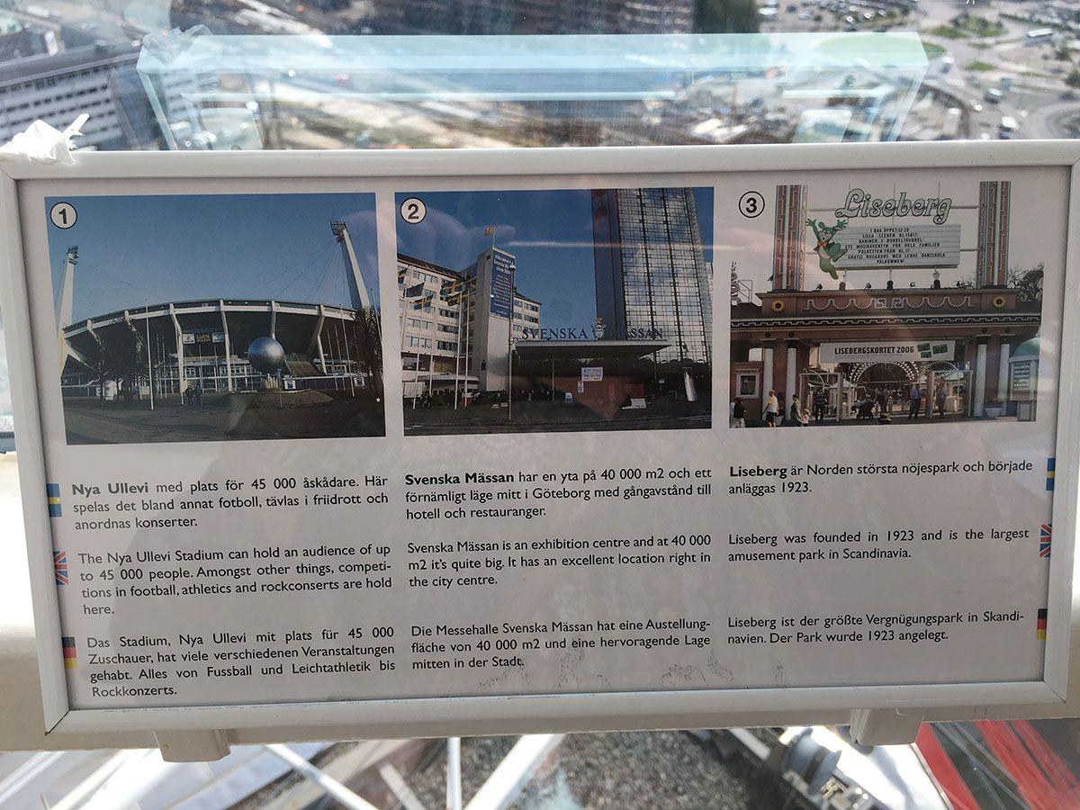 Miradores de Gotemburgo - Suecia - Edificio Läppstiftet - Panel informativo