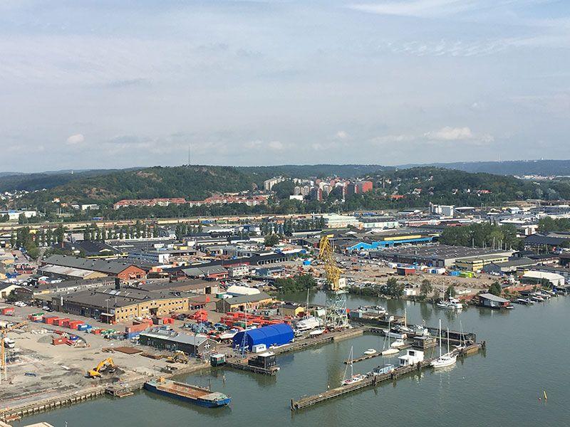 Miradores de Gotemburgo - Suecia - Edificio Läppstiftet - Vistas